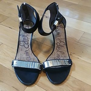 Sam edelman zip up ankle strap wedge sandal 8.5M
